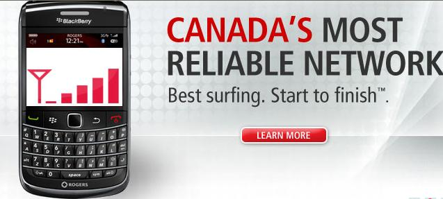 Rogers Canada's Most Reliable Network